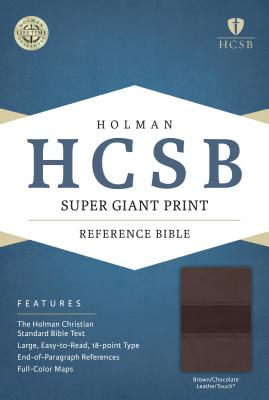 Image for HCSB Super Giant Print Reference Bible, Brown/Chocolate LeatherTouch