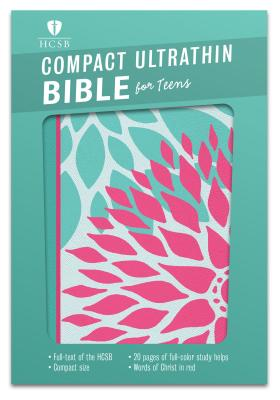 Image for HCSB Compact Ultrathin Bible for Teens, Green Blossoms LeatherTouch