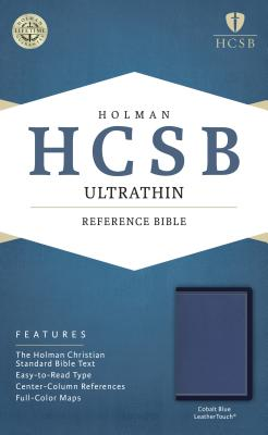 Image for HCSB Ultrathin Reference Bible, Cobalt Blue LeatherTouch