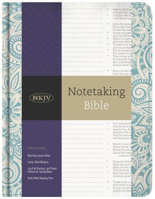 Image for NKJV Notetaking Bible, Blue Floral