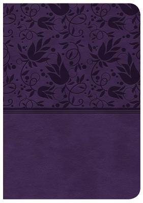 """Image for """"CSB Large Print Compact Reference Bible, Purple Leathertouch"""""""