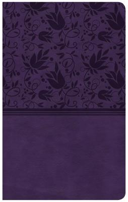 "Image for ""CSB Ultrathin Reference Bible, Purple Leathertouch, Indexed"""