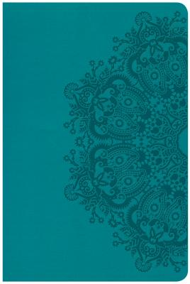 """Image for """"CSB Large Print Personal Size Reference Bible, Teal Leathertouch"""""""
