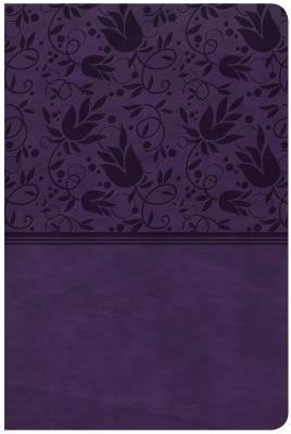 CSB Large Print Personal Size Reference Bible, Purple LeatherTouch, Indexed, CSB Bibles by Holman