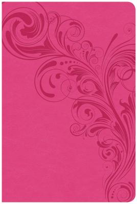 Image for CSB Large Print Personal Size Reference Bible, Pink LeatherTouch
