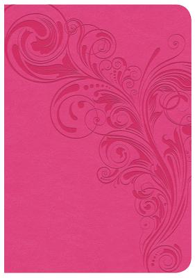 Image for CSB Large Print Compact Reference Bible, Pink LeatherTouch
