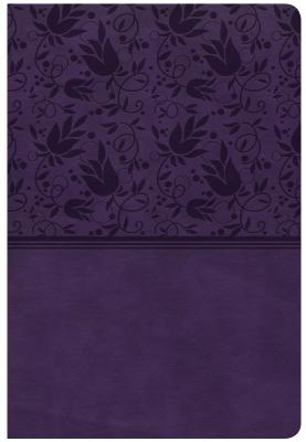 """Image for """"CSB Giant Print Reference Bible, Purple Leathertouch, Indexed"""""""