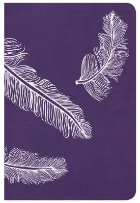 """Image for """"''CSB Compact Ultrathin Bible for Teens, Plum Feathers LeatherTouch''"""""""