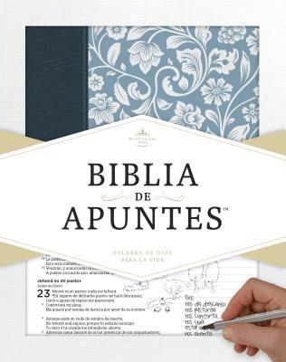 Image for RVR 1960 Biblia de apuntes - Azul - Piel genuina y tela impresa (Spanish Edition)