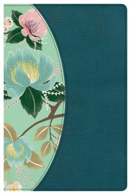 """Image for """"''The CSB Study Bible for Women, Teal Flowers LeatherTouch, Thumb-Indexed''"""""""