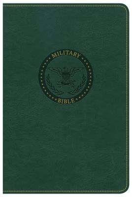 """Image for """"CSB Military Bible, Green LeatherTouch"""""""