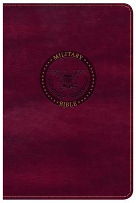 Image for CSB Military Bible, Burgundy LeatherTouch