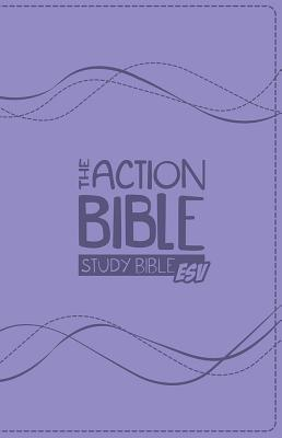 Image for The Action Bible Study Bible ESV Premium Edition (Prple)