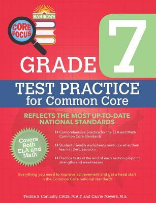 Image for Barron's Core Focus Grade 7: Test Practice for Common Core