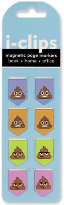 Image for Poop I-clips Magnetic Page Markers: Set of 8 Magnetic Bookmarks