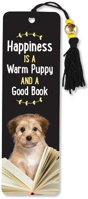 Image for Happiness Is a Warm Puppy and a Good Book Beaded Bookmark