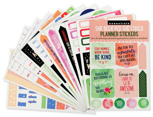 Image for ESSENTIALS SHE BELIEVED SHE COULD PLANNER STICKERS
