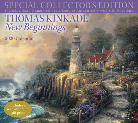 Image for Thomas Kinkade Special Collector's Edition 2020 Deluxe Wall Calendar: New Beginnings
