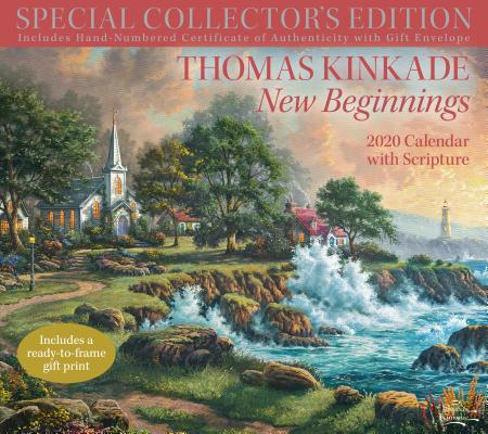 Image for Thomas Kinkade Special Collector's Edition with Scripture 2020 Deluxe Wall Calen: New Beginnings