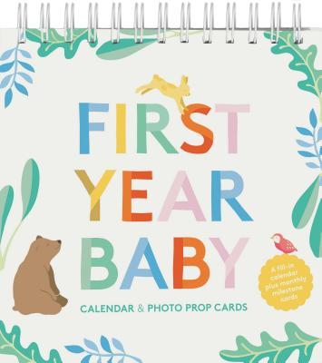 Image for First Year Baby Calendar & Photo Prop Cards: (Baby Shower Gift, New Baby Gift)