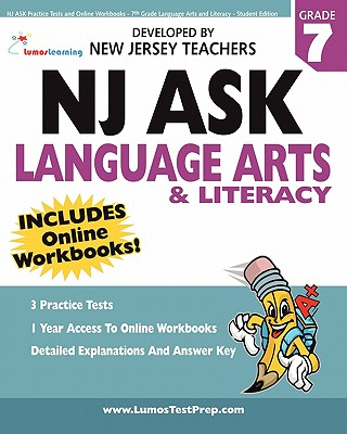 Image for NJ ASK Practice Tests and Online Workbooks - 7th Grade Language Arts and Literacy - Student Edition: Developed by Expert Teachers