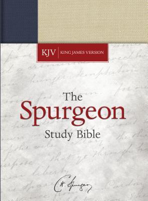 Image for KJV Spurgeon Study Bible, Navy/Tan Cloth-over-Board