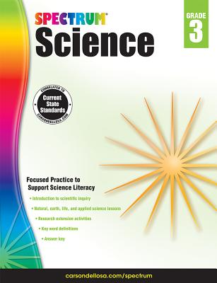 Image for Spectrum Science Workbook Grade 3