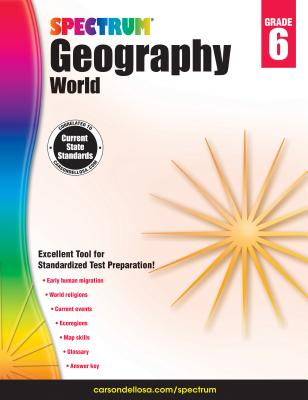 Image for Spectrum | Geography: World Workbook | 6th Grade, 128pgs