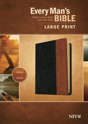 Image for Every Man's Bible Large Print Black/Tan