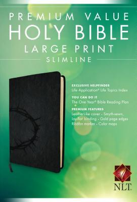 "Image for ""Premium Value Slimline Bible Large Print NLT, Crown"""
