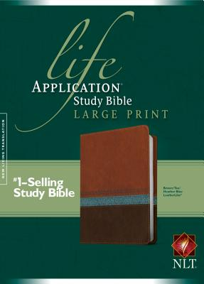 "Image for ""NLT Life Application Study Bible, Large Print TuTone Brown/Tan/Heather Blue Leatherlike"""