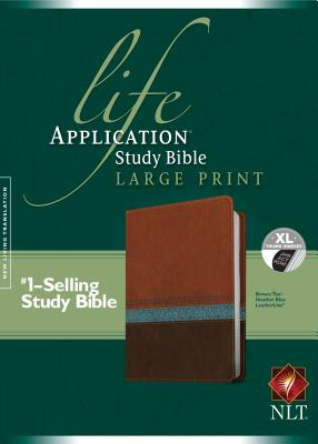 Image for Life Application Study Bible NLT Large Print Indexed Brown/Tan/Heather Blue