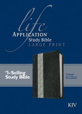 Image for Life Application Study Bible KJV, Large Print (Black/Vintage Ivory Floral)