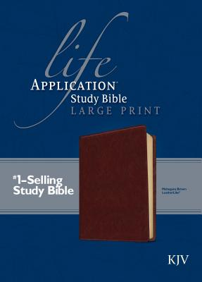Image for KJV Life Application Study Bible, Second Edition, Large Print (Red Letter, LeatherLike, Brown)