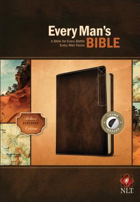 """Image for """"NLT Every Mans Bible, Deluxe Explorer Edition, LeatherLike, Brown, With thumb index"""""""