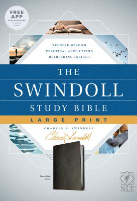 Image for The Swindoll Study Bible NLT, Large Print (LeatherLike, Black)