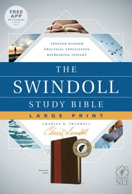 "Image for ""NLT The Swindoll Study Bible Large Print LeatherLike, Brown/Tan Indexed"""
