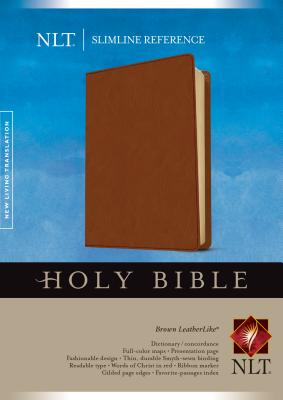 Image for Slimline Reference Bible NLT (LeatherLike, Brown)