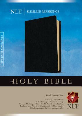 Image for Slimline Reference Bible NLT (LeatherLike, Black)