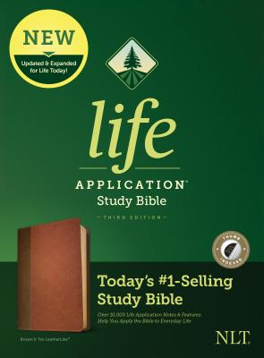 Image for Tyndale NLT Life Application Study Bible, Third Edition (LeatherLike, Brown/Tan, Indexed) NLT Bible with Thumb Index, Updated Notes and Features, Full Text New Living Translation Version