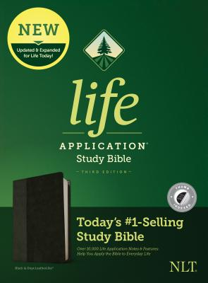 Image for Tyndale NLT Life Application Study Bible, Third Edition (LeatherLike, Black/Onyx, Indexed) NLT Bible with Thumb Index, Updated Notes and Features, Full Text New Living Translation