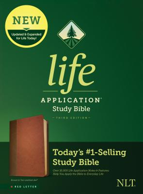 Image for Tyndale NLT Life Application Study Bible, Third Edition (Red Letter, LeatherLike, Brown/Mahogany) NLT Bible with Updated Study Notes and Features, Full Text New Living Translation