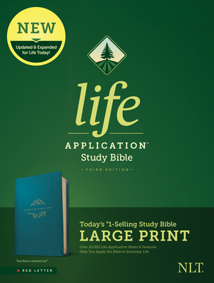 Image for NLT Life Application Study Bible, Third Edition, Large Print (Red Letter, Teal)