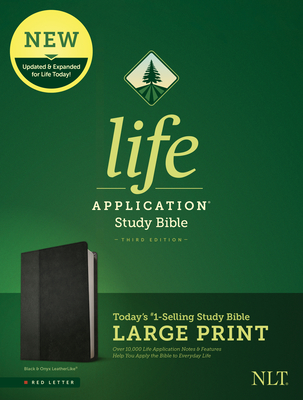 Image for Tyndale NLT Life Application Study Bible, Third Edition, Large Print (LeatherLike, Black/Onyx, Red Letter) – New Living Translation Bible, Large Print Study Bible for Enhanced Readability