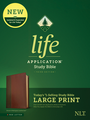 Image for NLT Life Application Study Bible, Third Edition, Large Print (Brown/Mahogany, Red Letter)