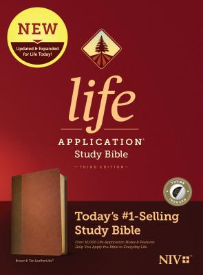 Image for Tyndale NIV Life Application Study Bible, Third Edition (LeatherLike, Brown/Tan, Indexed) NIV Bible with Thumb Index, Updated Notes and Features, Full Text New International Version
