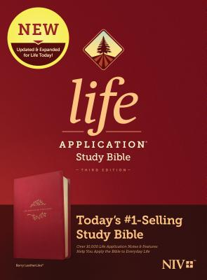 Image for Tyndale NIV Life Application Study Bible, Third Edition (LeatherLike, Berry) NIV Bible with Updated Notes and Features, Full Text New International Version