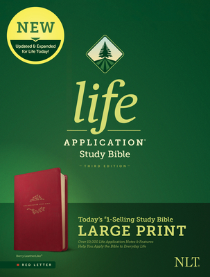 Image for NLT Life Application Study Bible, Third Edition, Large Print Berry, Red Letter