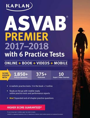 Image for ASVAB Premier 2017-2018 with 6 Practice Tests: Online + Book (Kaplan Test Prep)