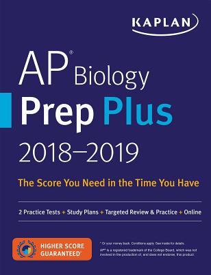 Image for AP Biology Prep Plus 2018-2019: 2 Practice Tests + Study Plans + Targeted Review & Practice + Online (Kaplan Test Prep)